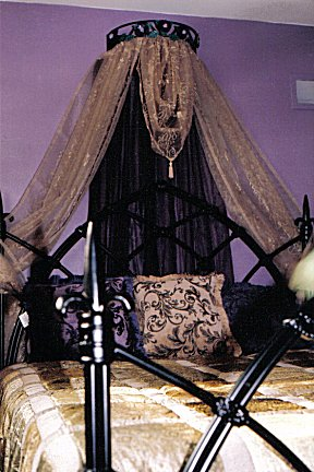 gothic black and purple bed