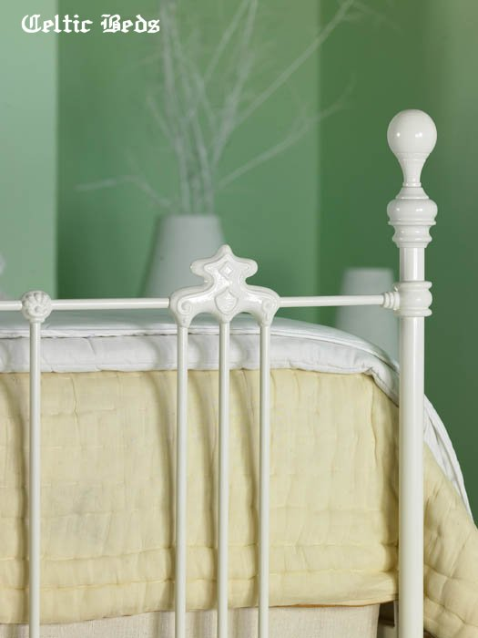 kenmare iron bed white